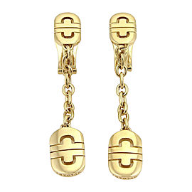 Bulgari Parentesi 18K Yellow Gold Drop Dangle Earrings