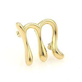 Tiffany & Co. Elsa Peretti 18K Yellow Gold Initial