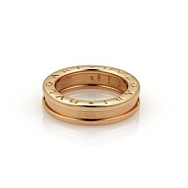 Bulgari B Zero-1 18K Rose Gold Band Ring Size 4.5
