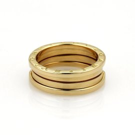 Bulgari B Zero-1 18K Yellow Gold Wide Band Ring Size 9.5