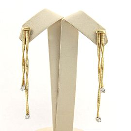 Marco Bicego 18K White & Yellow Gold with 0.20ct Diamond Double Drop Earrings