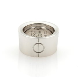 Cartier High Love 18K White Gold Band Ring Size 3.25