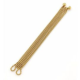 Cartier Draperie de Decolette 18K Yellow Gold Beaded Strand Bracelet