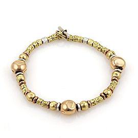 Pomellato DoDo 18K Gold & Sterling Silver Nugget Bead Bracelet