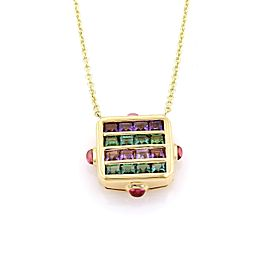 Bulgari Bvlgari 18K Yellow Gold Tourmaline & Amethyst Necklace