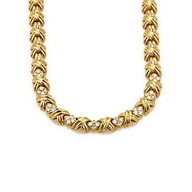 Tiffany & Co. 18K Yellow Gold with 1ct. Diamond X Signature Necklace