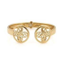 Louis Vuitton 18K Yellow Gold Monogram Fusion Flex Fancy Resille Cuff Bracelet