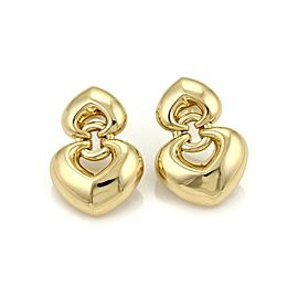 Bulgari Bvlgari 18K Yellow Gold Double Hearts Earrings