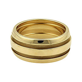 Tiffany & Co. Atlas 18K Yellow Gold Wide Grooved Dome Band Ring Size 5