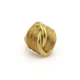 Henry Dunay 18K Yellow Gold Dome Knot Design Textured Ring Size 6