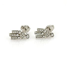 Tiffany & Co. 950 Platinum & 0.38ct Diamond Drop Dangle Earrings
