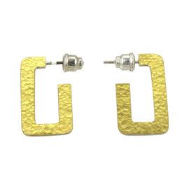 Gurhan 925 Sterling Silver & 24K Yellow Gold Narrow Hoop Earrings