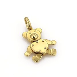 Pomellato 18K Yellow Gold Bear Charm Pendant