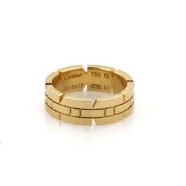 Cartier Tank Francaise 18K Yellow Gold Band Ring Size 5.75