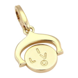 Cartier 18K Yellow Gold I LOVE YOU Spinner Charm Pendant
