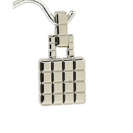 Chopard 18K White Gold Cube Briefcase Pendant