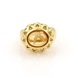 Tiffany & Co. Paloma Picasso 18K Yellow Gold & 3.0ct. Cabochon Citrine Solitaire Ring Size 6