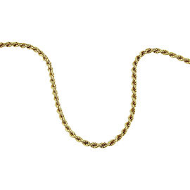 Chopard 18K Yellow Gold Rope Chain Necklace