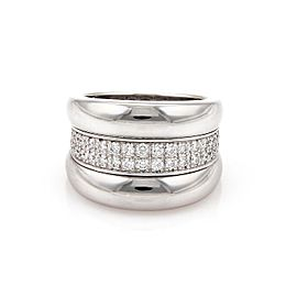 Chopard Diamond 18K White Gold with 0.82ctw Diamond with Band Ring Size 6