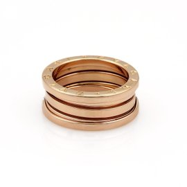 Bulgari B Zero-1 18K Rose Gold Band Ring Size 7
