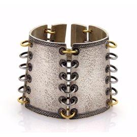Gurhan Lancelot 24K Yellow Gold & 925 Sterling Silver Hammered Bracelet