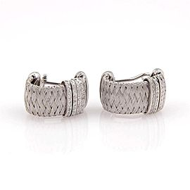 Roberto Coin 18K White Gold with 0.50ctw Diamond Huggie Earrings