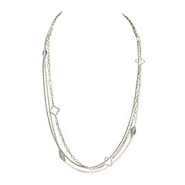 David Yurman 925 Sterling Silver with Diamond and Topaz Necklace