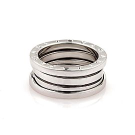 Bulgari B Zero-1 18K White Gold Band Ring Size 6.25