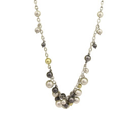 Gurhan 925 Sterling Silver and 24K Gold Necklace