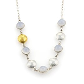 Gurhan 24K Yellow Gold and 925 Sterling Silver with Chalcedony Necklace
