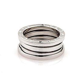 Bulgari 18K White Gold Ring Size 7.75