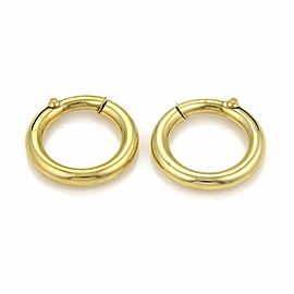 Cartier Vintage 18K Yellow Gold Hoop Earrings
