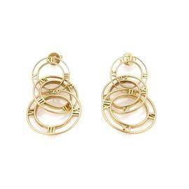 Tiffany & Co. Atlas 18K Yellow Gold Triple Graduated Hoop Dangle Earrings