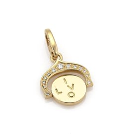 Cartier Love 18K Yellow Gold with 0.08ct Diamond Pendant