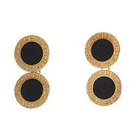Bulgari Bulgari 18K Yellow Gold Black Onyx Round Chain Cufflinks