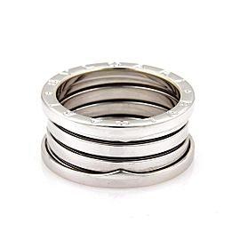 Bulgari B Zero-1 18K White Gold 11mm Band Ring Size 8.5