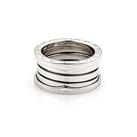Bulgari B Zero-1 18K White Gold 11mm Band Ring Size 9