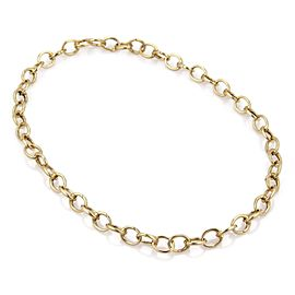 Tiffany & Co. 18K Yellow Gold Oval Clasping Link Necklace