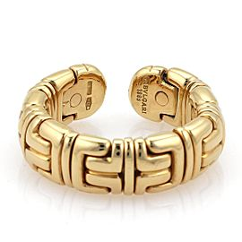 Bulgari Parentesi 18K Yellow Gold Wide Dome Cuff Band Ring
