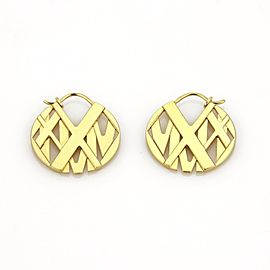 Tiffany & Co. Atlas 18K Yellow Gold Dangle Earrings