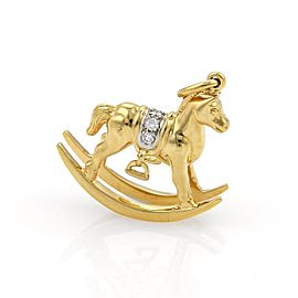 Tiffany & Co. 950 Platinum & 18K Yellow Gold with 0.15ct Diamond Rocking Horse Charm Pendant
