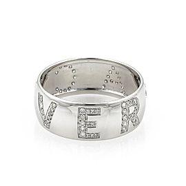 Versace Diamond 18K White Gold Diamond Ring Size 10