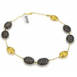 Gurhan Pastiche 24K Yellow Gold, Sterling Silver Diamond Necklace