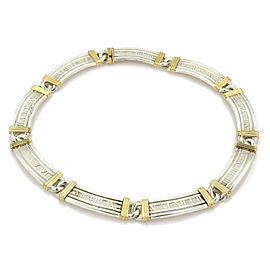 Tiffany & Co. Atlas 925 Sterling Sterling and 18K Yellow Gold Roman Numeral Hefty Collar Necklace