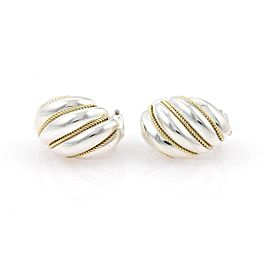 Tiffany & Co. Sterling 18K Yellow Gold, Sterling Silver Earrings