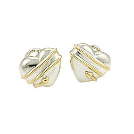 Tiffany & Co. 18k Yellow Gold Sterling Clip On Earrings