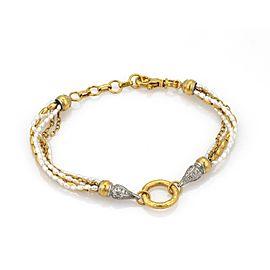 Gurhan Diamond 24K Yellow Gold Diamond, Cultured Pearl Bracelet