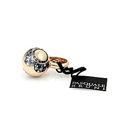 Pasquale Bruni Songi 18K Rose Gold Diamond, Sapphire, Spinel, Topaz Ring Size 7