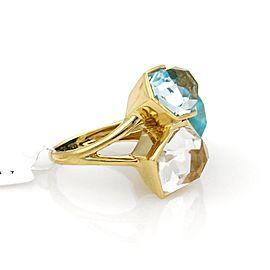 Ippolita Rock 18K Yellow Gold Turquoise Ring Size 7