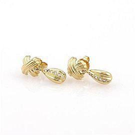Tiffany & Co. Diamond 18K Yellow Gold Diamond Earrings